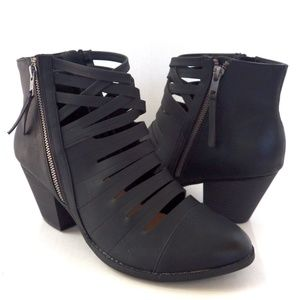 Torrid Cut-Out Booties Size 12 Black Women Shoes